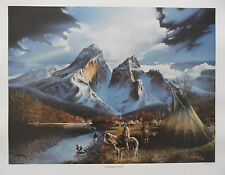 "*Bill Jaxon ""CONSIDERING THE SOURCE"" Native American-Indian-Teepee-Art  $395*"