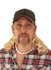 Tiger King Joe Exotic Costume - Hat with Wig - Mustache - Necklace - Earrings -