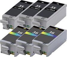 6x TINTE PATRONEN für CANON PIXMA IP100 IP100P IP100V PORTABLE PGI-35 CLI-36 SET