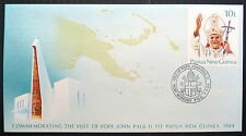PAPUA NEW GUINEA 1984 Pope John Paul Visit Special Cover & PMK NEW PRICE EF171