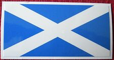 Pair (2) ofScotland Saltire Flag peel-off vinyl stickers / decals (ff)