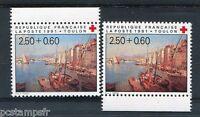 FRANCE  1991, variété de couleur, timbre 2733a, CROIX ROUGE, neufs**