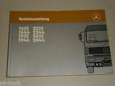 Manual de instrucciones Handbuch Mercedes Benz Camión Tipo 1635 2644,Stand