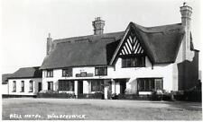 Walberswick Bell Hotel Pub Nr Southwold unused RP old postcard F Jenkins