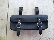Old, vintage retro style leather bicycle tool, saddle bag, black Australia made.