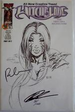 WITCHBLADE #40 DYNAMIC FORCES DF SKETCH VARIANT SIGNED KEU CHA & RICK VEITCH COA
