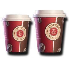 100 Top Hartpapier 200 ml Coffee to go Becher Pappbecher mit Deckel TOP