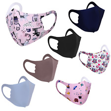 Pack 3 Kids Face Mask Reusable Washable Breathable Children Protective Covering