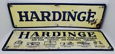 (2) Vintage Hardinge Company Inc. Mining Machining Equipment Porcelain Signs