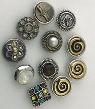 Ginger Snaps Lot of 10 Petite GingerSnaps Snap Charms, New
