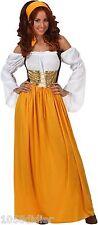 Déguisement Femme Servante Médiévale XL 44 Costume Adulte Paysanne Dame