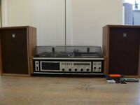 SANYO G 2611 KL SOLID STATE MUSIC CENTRE RECORD TAPE PLAYER RADIO SPEAKERS JAPAN