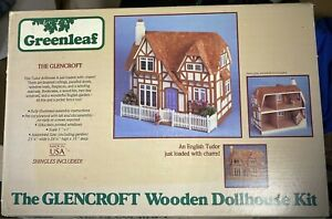 Greenleaf #8001 The Glencroft Wooden English Tudor Dollhouse Kit Minatare Wood