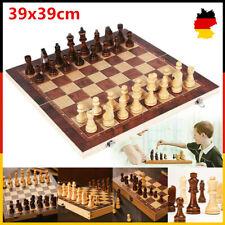39*39CM Schachspiel Geschenk Schach Sehr schönes Holz 3 in1 klappbares AD