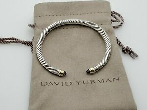 David Yurman Cable Classics Bracelet with Ametyst & 14K Gold, 5mm size Small