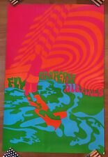 Psychedelic Eastern Airlines Travel Poster - Surfer