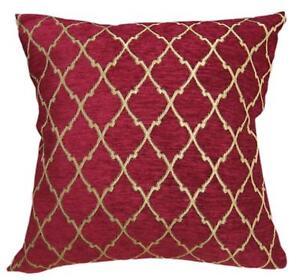Pillow Cover*Rhombus Chenille Sofa Seat Pad Cushion Case Custom Size*Wk6