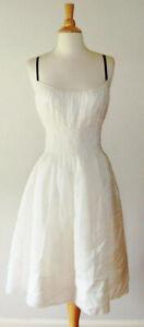 Anthropologie 'Girls from Savoy' Branchflower Silk Blend Seersucker Dress 6 8 S
