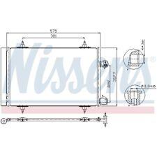 1 Condensador, aire acondicionado NISSENS 940239 adecuado para CITROËN PEUGEOT