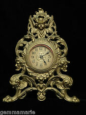 Antique Victorian Super Ornate Mantle Clock Angel winged griffin face motif