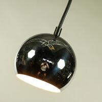 Chromkugel Pendel Leuchte ∅ 12 cm Stahl Vintage Chrome Ball Pendant Light 70er