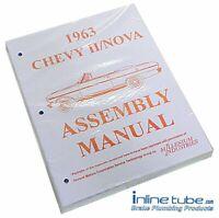1963 Chevrolet Nova Chevy II 2  Factory Assembly Rebuild Instruction Manual Book