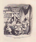 Orig Antique Engraving by GEORGE CRUIKSHANK for CHARLES DICKENS Sketches by Boz