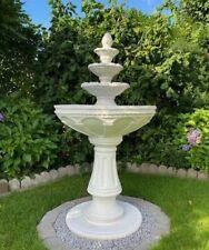 Brunnen Springbrunnen Gartenbrunnen Port Vila mit Pumpe Steinkunst BLACKFORM