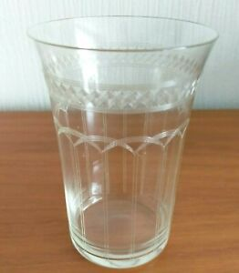 Edwardian Etched Drinking Glass