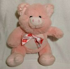 Inter-American Products-Stuffed Animal Pink Pig Plush