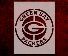 """Round Green Bay Packers 8.5"""" x 11"""" Custom Stencil FAST FREE SHIPPING (19)"""
