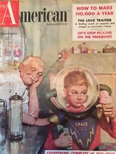 The American Magazine September 1953 Out of this World-Cover Only! Great Sci Fi!