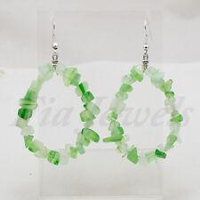 Orecchini pendenti in agata verde naturale Gioielli Artigianali con pietre