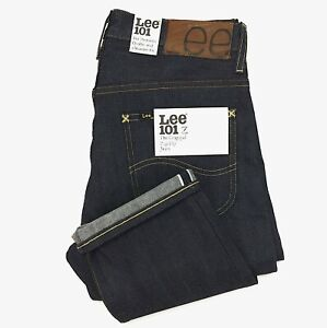 (IRR) Lee 101Z Rigid Unwashed Selvedge Blue Jeans Zipper Fly Made in Japan