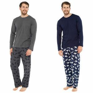 Mens Stag Pyjamas Christmas Nightwear  Pyjama Set M-XXL NEW FREE P&P