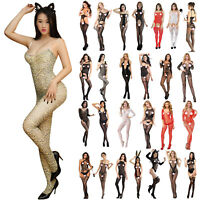 Sexy Women Bodysuit Body Stocking Lingerie Fishnet Babydoll Nightwear Sleepwear