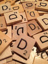 100 Original Scrabble Tiles Letter D