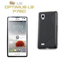Silikon TPU Handy Tasche F LG P760 Optimus L9 Schutz Hülle Silicon Case Schwarz