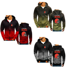 Hot Cleveland Browns Gradient Hoodie Casual Sweatshirt Sports Jacket Fan's Gift