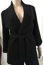 MADISON~100% Cotton~Black~Long Sleeve~Tie waist Cardigan~Med