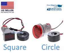 Ac 110v Digital 100a 22mm Panel Meter Led Pilot Lamp Light Ammeter Circle Square