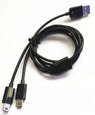 1 M USB 2.0 A Macho a Macho 2 Mini B 5Pin Jack Y Splitter Cable De Alimentación Cable Adaptador