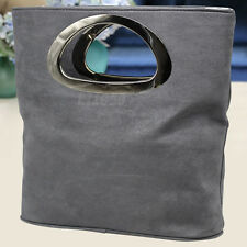 Italian Suede Leather Ladies Clutch Bag Evening Tote Handle Girl Evening Clutch