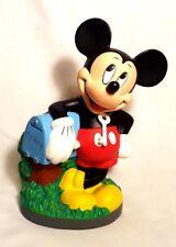 """NOS VTG Bullyland Bully Disney Mickey Mouse Plastic Mailbox Money Bank w/ Key 9"""""""