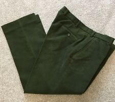 WORN ONCE MAGEE MOLESKIN COUNTRY GREEN TROUSERS 42 S SHORT 30 LEG COST £125