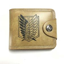 Attack on titan button PU purse wallet card unisex bag handbag wallets 2021