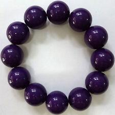 Elasticated Purple Bead Bracelet Wristband Bangle Womens Ladies Girls Jewellery