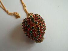 """SWAROVSKI necklace,gold tone,rhinestone pendant ( not signed), 20""""long,great cnd"""