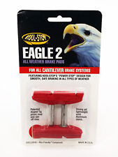 Kool-Stop Eagle 2 Cantilever Bike Brake Pads Smooth Post All Weather Use - Red