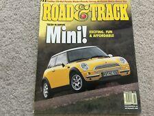2002 Mini Cooper, 2003 Cadillac CTS  Road  and  Track Magazine
